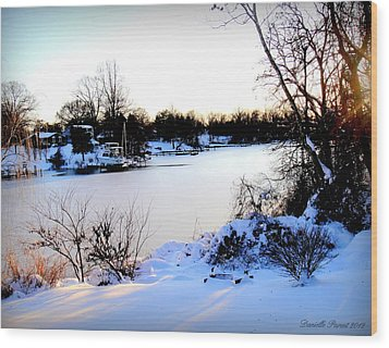 Winter Wonderland  In Maryland Usa Wood Print
