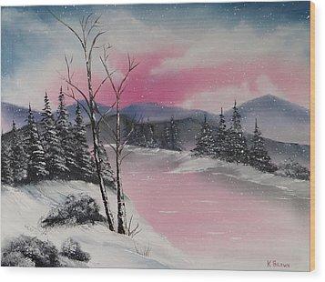 Winter Wonderland Wood Print by Kevin  Brown