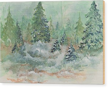 Winter Wonderland Wood Print by Lee Beuther