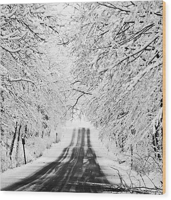 Wood Print featuring the photograph Winter Wonderland by Ricky L Jones
