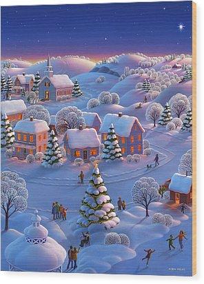 Winter Wonderland  Wood Print by Robin Moline