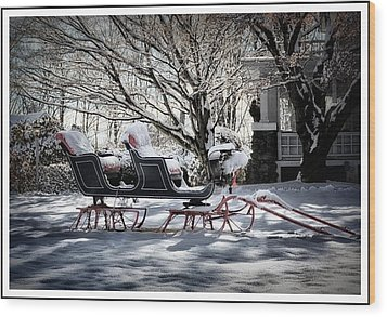 Winter Wonderland Wood Print by Tricia Marchlik