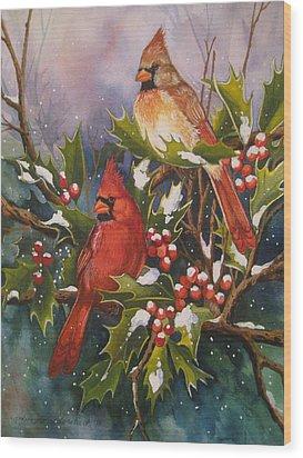 Winter Wonders Wood Print by Cheryl Borchert