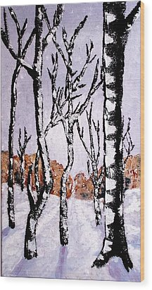 Winterforest Wood Print