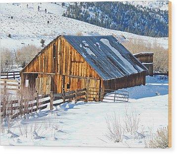 Wintering Range Barn Wood Print