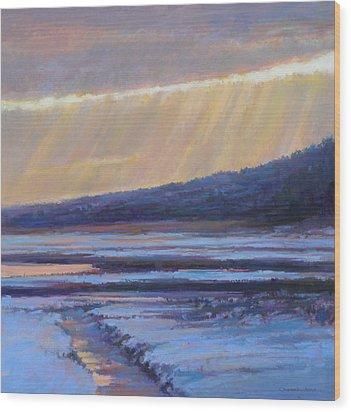 Winter's Dawn Wood Print by Ed Chesnovitch
