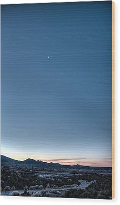 Winter's Dawn Over Santa Fe No.1 Wood Print by Dave Garner