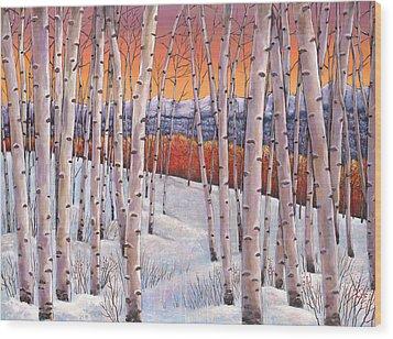 Winter's Dream Wood Print by Johnathan Harris