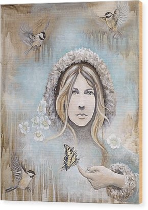 Winter's Dream Wood Print by Sheri Howe
