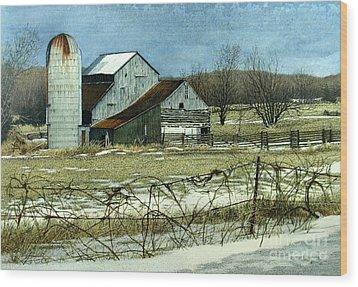 Winters End Prince Edward County Wood Print