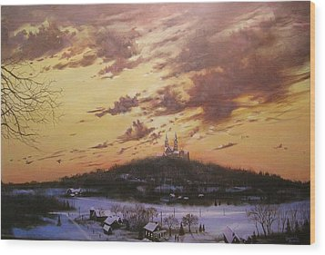 Winter's Eve At Holy Hill Wood Print by Tom Shropshire