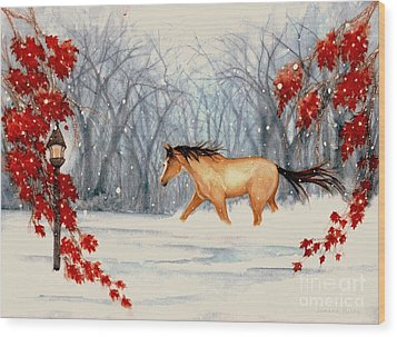 Winter's Eve Wood Print by Janine Riley