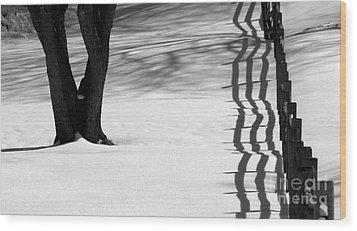 Winters Light Wood Print