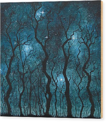 Winter's Night Wood Print by Sabrina Zbasnik