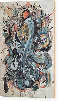 Winter's Retreat Wood Print by Nancy Kane Chapman
