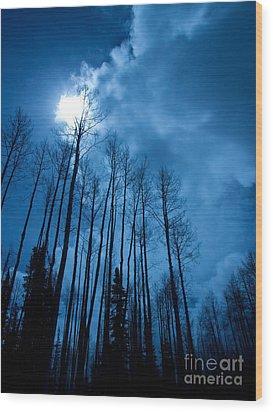 Winters Sky Wood Print by Dana Kern