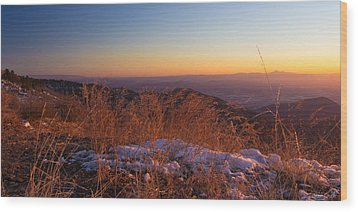 Winter's Splendor Wood Print by Heidi Smith