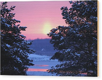 Wood Print featuring the photograph Winter's Sunrise by Elizabeth Winter