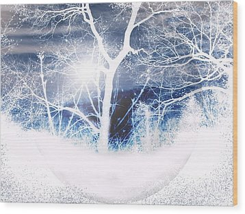 Winterscape Wood Print