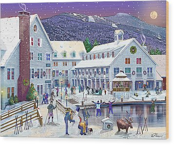Wintertime At Waterville Valley New Hampshire Wood Print