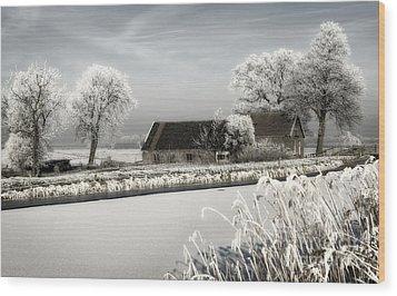 Winterwonderland Wood Print by Michel Verhoef