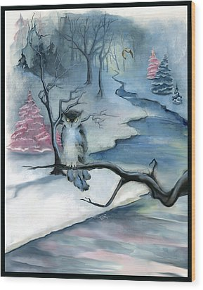 Wood Print featuring the painting Winterwood by Terry Webb Harshman