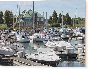 Wood Print featuring the photograph Winthrop Harbor by Debbie Hart