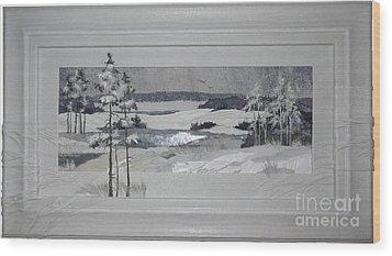 Wintry Dream Wood Print by Yakubouskaya Olga