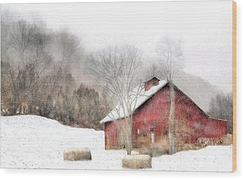 Wintry Mix Wood Print