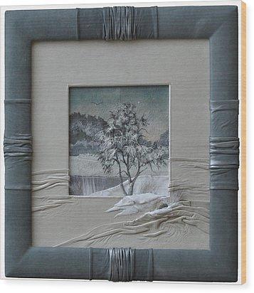 Wintry Morning Wood Print by Yakubouskaya Olga