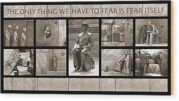 Wip - Fdr Memorial - Washington Dc Wood Print by Mike McGlothlen