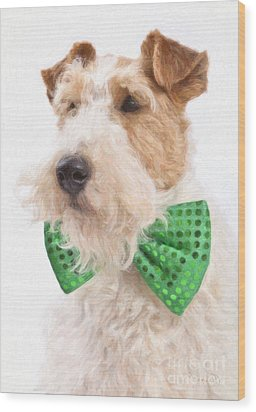 Wire Fox Terrier With Bowtie Wood Print