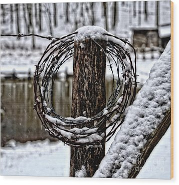 Wood Print featuring the photograph Wired by Brenda Bostic