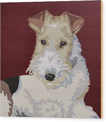 Wirehaired Fox Terrier Wood Print by Slade Roberts