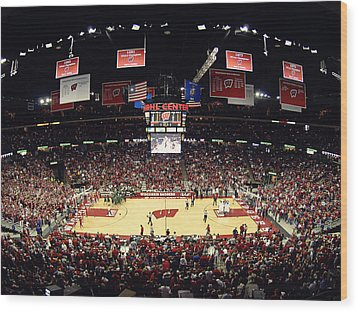 Wisconsin Badgers Kohl Center Wood Print by Replay Photos