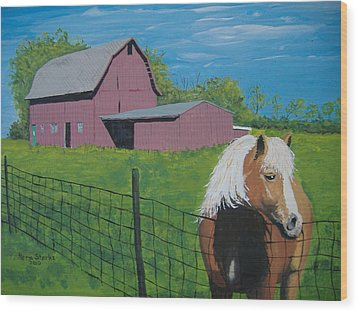 Wood Print featuring the painting Wisconsin Barn by Norm Starks