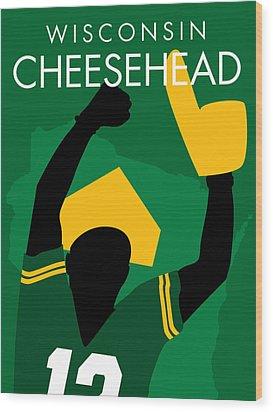 Wisconsin Cheesehead Wood Print by Geoff Strehlow