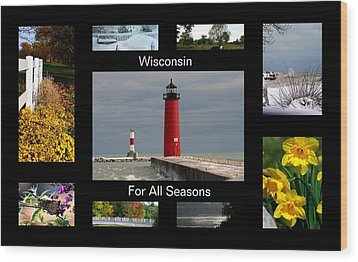 Wood Print featuring the photograph Wisconsin For All Seasons by Kay Novy