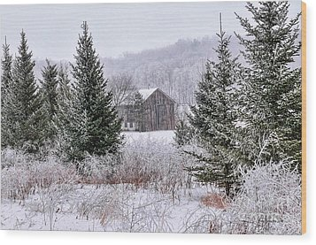 Wood Print featuring the photograph Wisconsin Frost by Trey Foerster