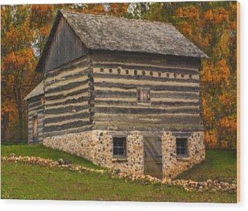 Wisconsin Homestead Wood Print by Jack Zulli
