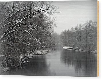 Wisconsin River Wood Print by Kay Novy