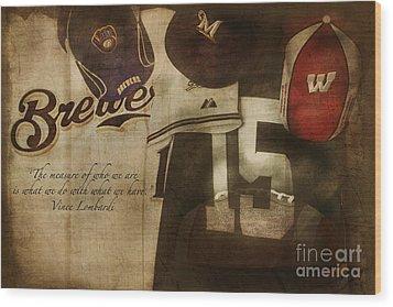 Wisconsin Sports Wood Print