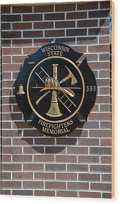Wood Print featuring the photograph Wisconsin State Firefighters Memorial Park 5 by Susan  McMenamin