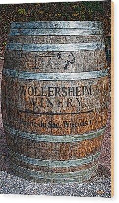 Wisconsin Wine Barrel Wood Print