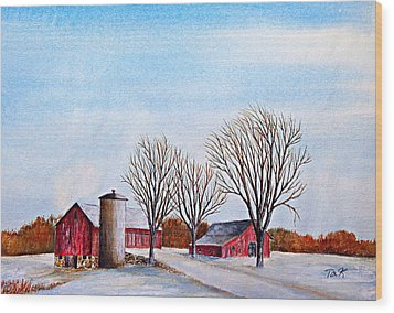 Wisconsin Winter Wood Print by Thomas Kuchenbecker