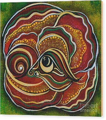 Wisdom Spirit Eye Wood Print
