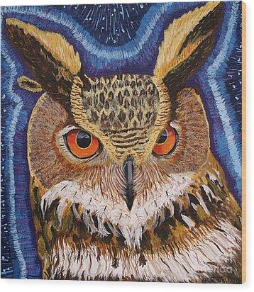 Wisdom Wood Print by Vicki Maheu