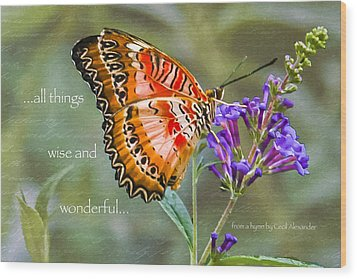 Wise And Wonderful Wood Print by Karen Stephenson