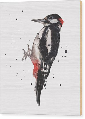 Wise Woody Wood Print by Alison Fennell