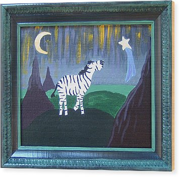Wish Upon A Star Wood Print by Yvonne  Kroupa